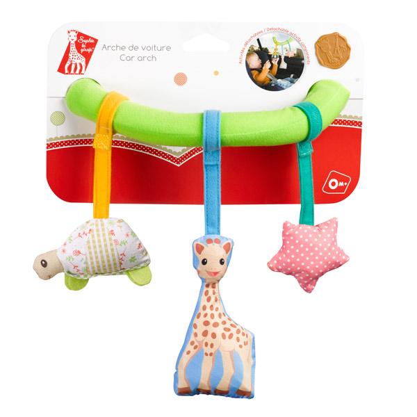 arche de voiture ventouse sophie la girafe avec hochet. Black Bedroom Furniture Sets. Home Design Ideas