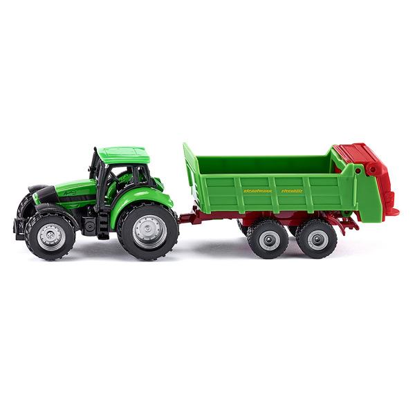 Tracteur avec epandeur universel