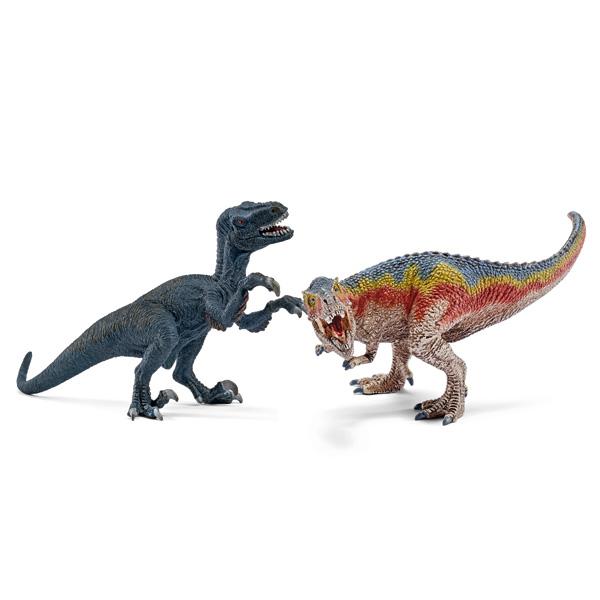 Petit T-Rex et Vélociraptor