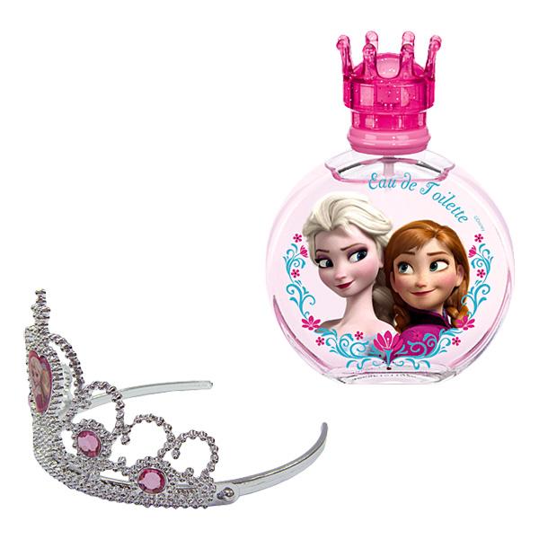 Parfumez-vous avec cette eau de toilette féerique de la Reine des Neiges. Testé sous contrôle dermatologique. Contient : - Bouteille de 100ml - une couronne