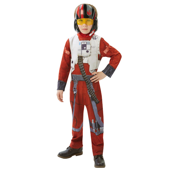 Ce déguisement de Poe (X-Wing Fighter) pour enfant est sous licence officielle Star Wars VII. Il se compose d´une combinaison accompagné d´un masque. Le déguisement se ferme dans le dos à l´aide d´un scratch. Ce costume sera parfait pour vivre la saga Sta