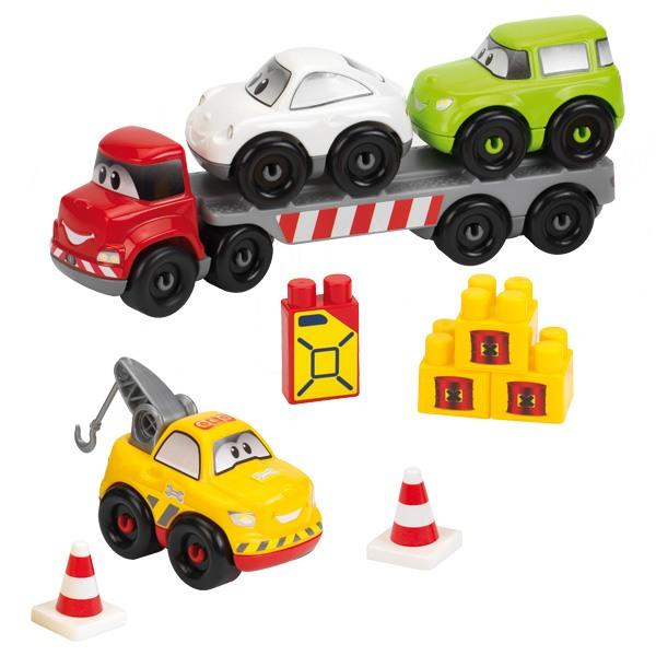 camion avec voiture abrick ecoiffier king jouet meccano engrenage autres ecoiffier jeux. Black Bedroom Furniture Sets. Home Design Ideas