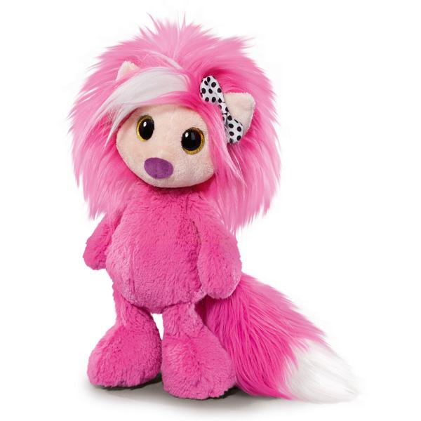 Cette peluche rose Ayumi Love de 38 cm sera idéale pour votre enfant. Toute douce grâce à ses longs poils. Elle est adorable avec son nud noir et blanc.