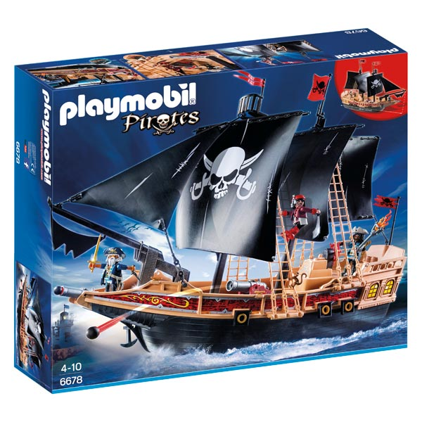 6678 bateau pirates des t n bres playmobil les pirates. Black Bedroom Furniture Sets. Home Design Ideas