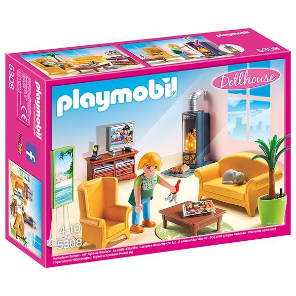 Playmobil la maison de ville chambre de b b cuisine for Salon playmobil