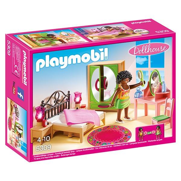 Playmobil la maison de ville chambre de b b cuisine salon chemin e jouets playmobil - Jeux de chambre een decorer ...