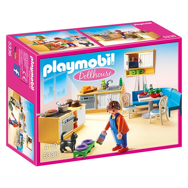 5336 cuisine avec coin repas playmobil dollhouse playmobil king jouet playmobil playmobil. Black Bedroom Furniture Sets. Home Design Ideas
