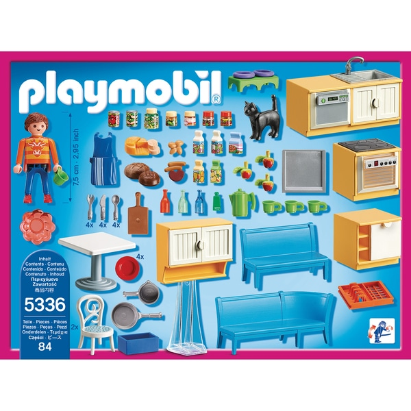 5336 cuisine avec coin repas playmobil king jouet playmobil playmobil jeux d 39 imitation. Black Bedroom Furniture Sets. Home Design Ideas