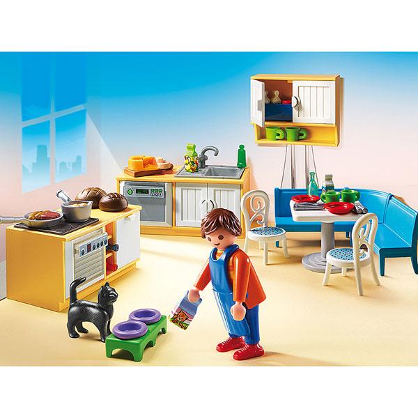 5336 cuisine avec coin repas playmobil dollhouse playmobil king jouet playmobil playmobil. Black Bedroom Furniture Sets. Home Design Ideas