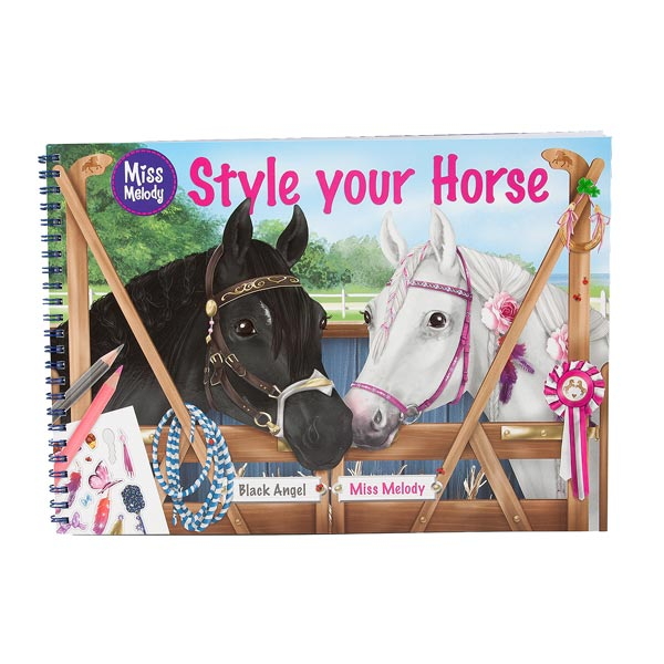 Miss melody,style your horse,coloriage