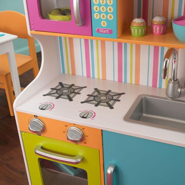 Cuisine aux couleurs vives kidkraft king jouet cuisine for Cuisine kidkraft avis