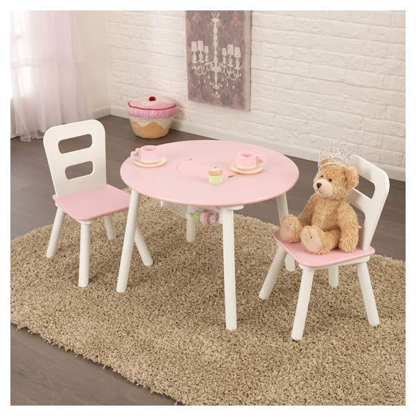 Ensemble table de rangement ronde avec chaises kidkraft king jouet d coration de la chambre - Table avec rangement chaise ...