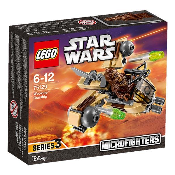 Rejoignez les Wookiees dans une bataille miniature ! Lorsque les forces ennemies envahissent, le moment est venu d´appeler le microfighter Wookiee Gunship. Placez le Wookiee dans le cockpit, armez les missiles et préparez- vous à foncer dans la bataille !