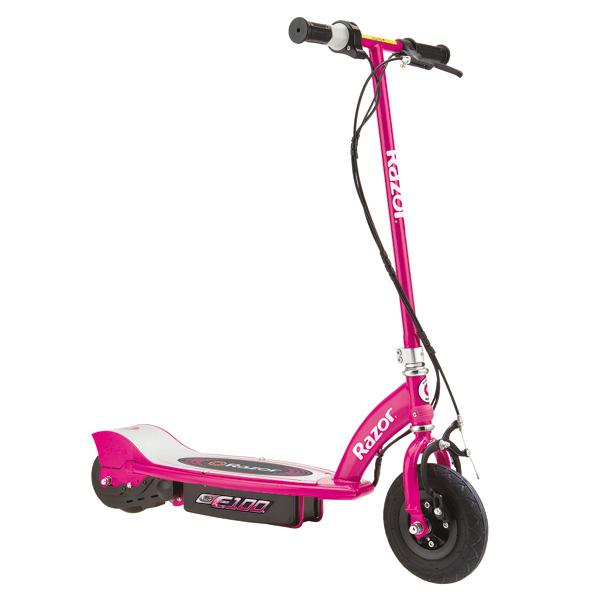 La patinette électrique E100 possède les caractéristiques idéales pour les enfants de 8 ans et plus avec son petit format . Sa conduite silencieuse n´en n´est pas moins puissante puisque vous pourrez la pousser jusqu´à 16km/h , et sera donc autant appréci
