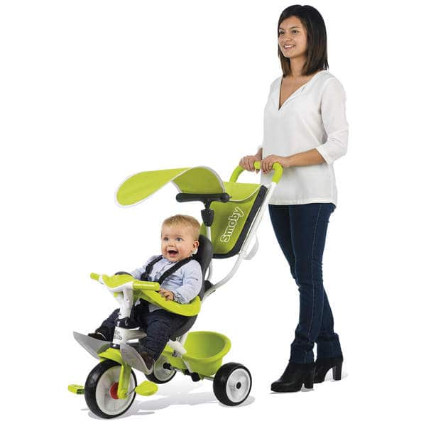 Tricycle baby balade 2 - tricycle evolutif avec roues silencieuses - dispositif roue libre - vert