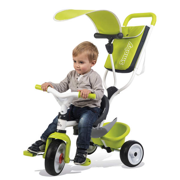 tricycle evolutif baby balade 2 vert smoby king jouet. Black Bedroom Furniture Sets. Home Design Ideas