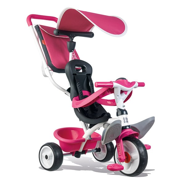 tricycle evolutif baby balade 2 roues silencieuses rose. Black Bedroom Furniture Sets. Home Design Ideas