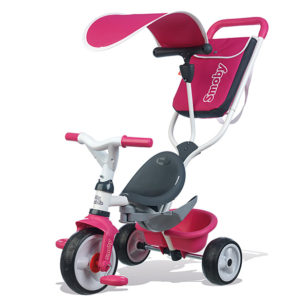 Tricycle baby balade 2 - tricycle evolutif avec roues silencieuses - dispositif roue libre - rose