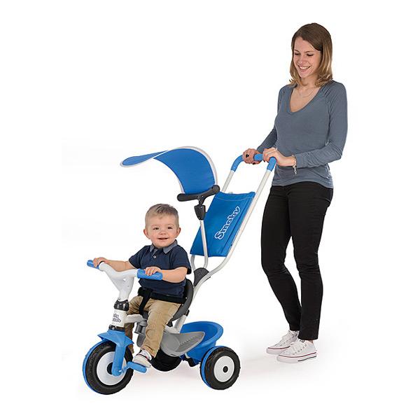 Tricycle baby balade 2 - tricycle evolutif avec roues silencieuses - dispositif roue libre - bleu