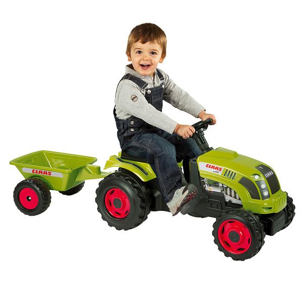 tracteur claas avec remorque smoby king jouet voitures. Black Bedroom Furniture Sets. Home Design Ideas