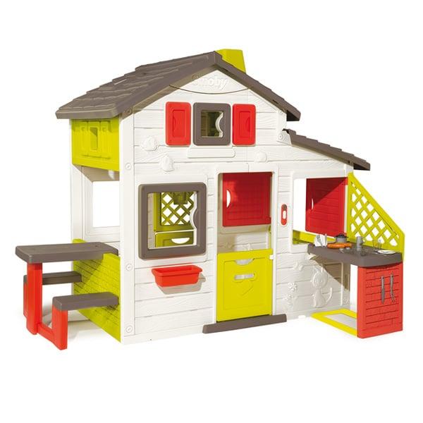 Maison friends house cuisine t smoby king jouet for Maison de jardin jouet