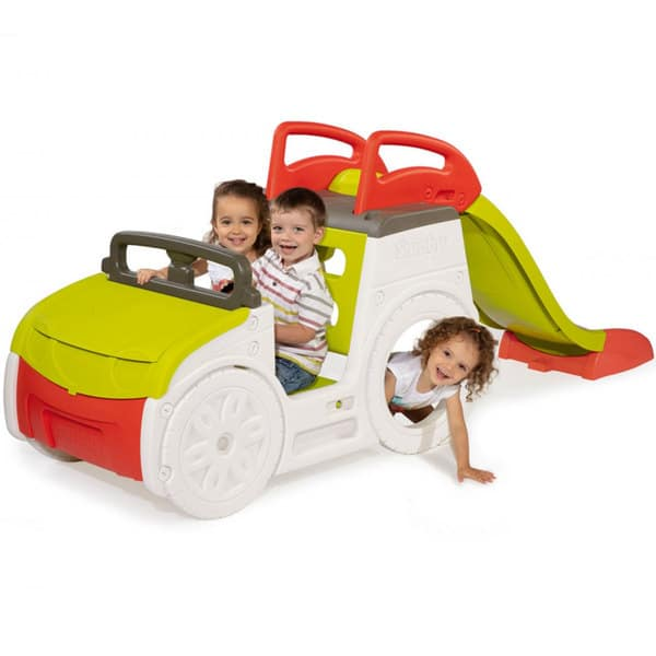 Aire De Jeux Adventure Car Avec Toboggan Et Bac 224 Sable