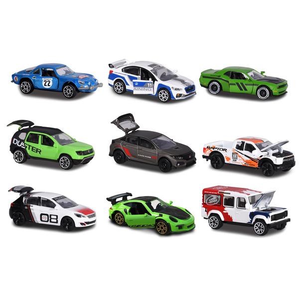 set 3 véhicules majorette premium racing cars majorette : king jouet
