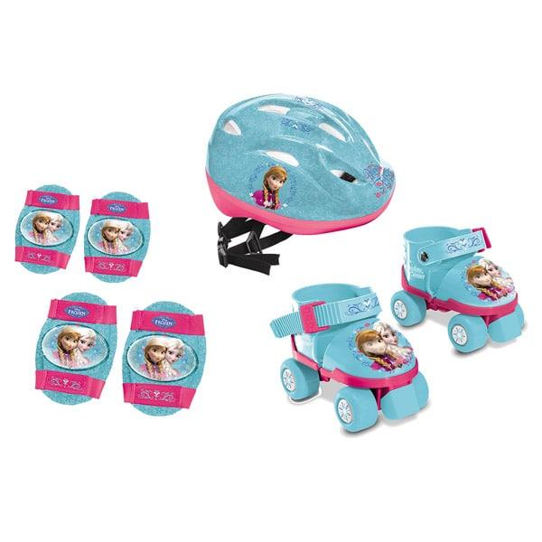 set patins avec casque et protections reine des neiges mondo king jouet rollers patins. Black Bedroom Furniture Sets. Home Design Ideas