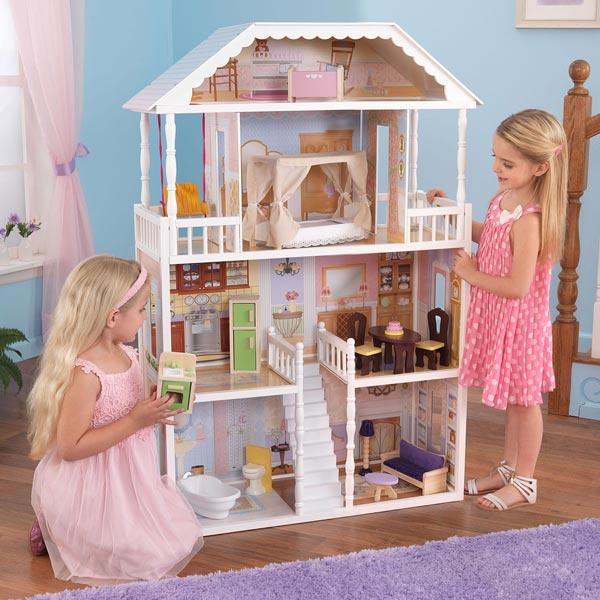 maison de poup e savannah dollhouse kidkraft king jouet. Black Bedroom Furniture Sets. Home Design Ideas