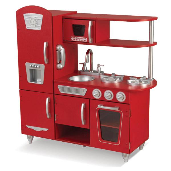 Cuisine vintage rouge kidkraft king jouet cuisine et for Cuisine retro rouge