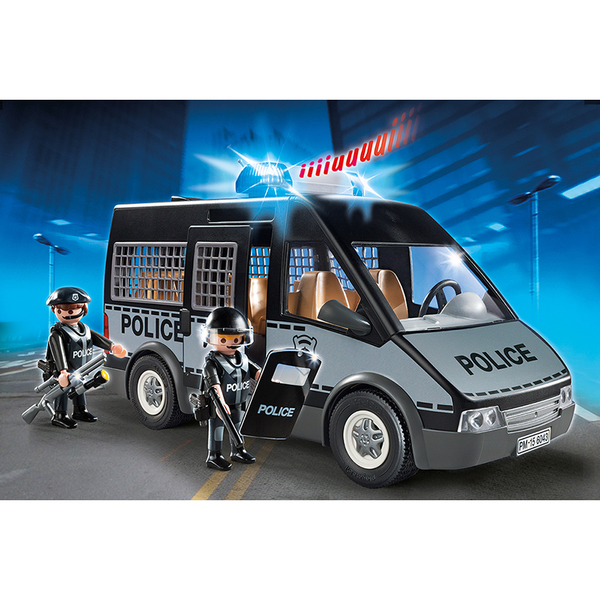 6043 fourgon de police avec sir ne et gyrophare playmobil. Black Bedroom Furniture Sets. Home Design Ideas