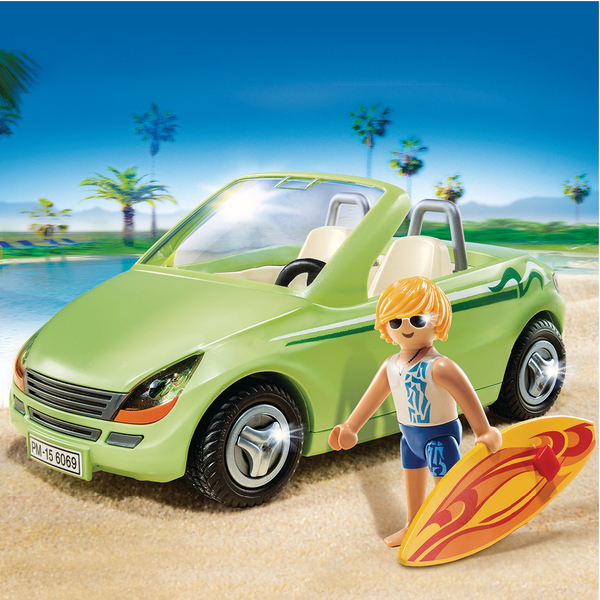 6069 surfeur et voiture d capotable de playmobil. Black Bedroom Furniture Sets. Home Design Ideas