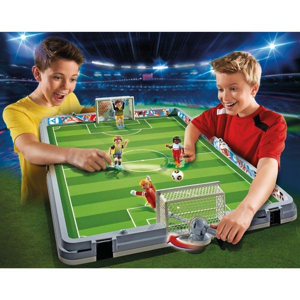 jeu jouet Jeux imitation mondes imaginaires playmobil ref  terrain de football transportable