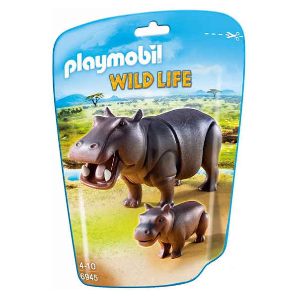 6945 hippopotame et son petit playmobil wild life. Black Bedroom Furniture Sets. Home Design Ideas