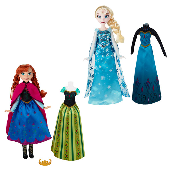 la reine des neiges poup e et tenues anna ou elsa hasbro king jouet poup es mannequin hasbro. Black Bedroom Furniture Sets. Home Design Ideas