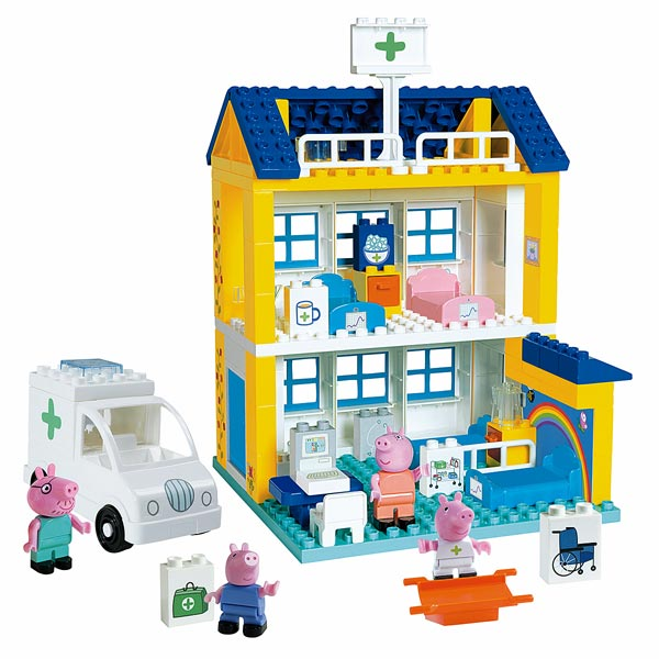 peppa pig hopital smoby king jouet lego planchettes autres smoby jeux de construction. Black Bedroom Furniture Sets. Home Design Ideas