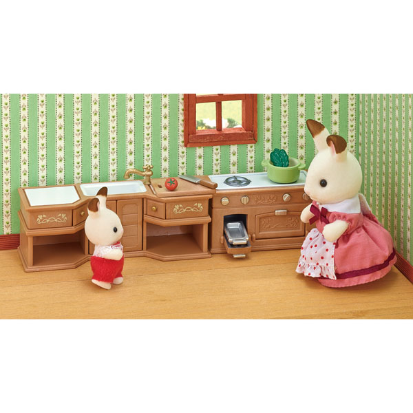 sylvanian cuisine am nag e sylvanian families king jouet figurines et cartes collectionner. Black Bedroom Furniture Sets. Home Design Ideas