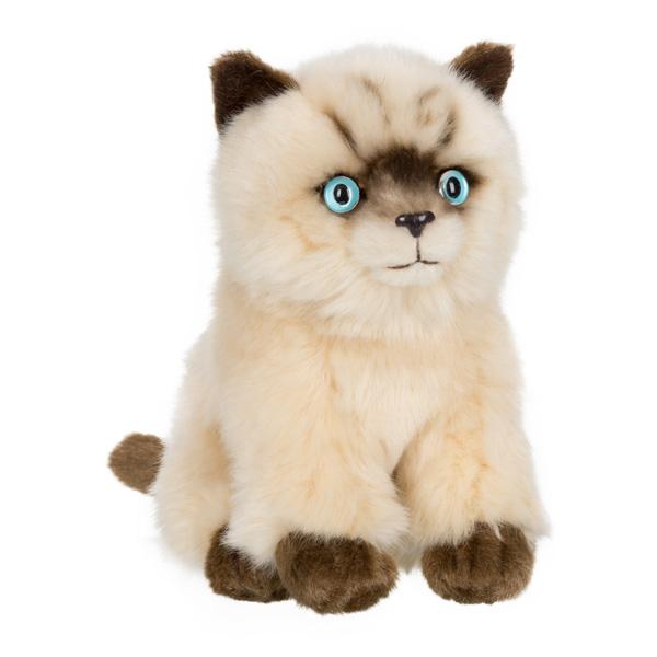 Une jolie peluche représentant un chat siamois assis qui ne demande qu´à être adopté. Tout comme le vrai, il possède les couleurs beige et marron qui le rendent facilement reconnaissable. Elle mesure 15 cm.