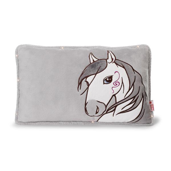 coussin rectangulaire cheval miracle blanc nici king jouet d coration de la chambre nici. Black Bedroom Furniture Sets. Home Design Ideas