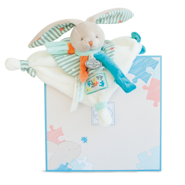 Lapin Happy Doudou Attache Sucette