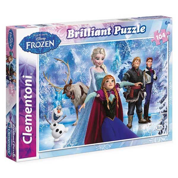 Puzzle 104 pièces Brillant La reine des Neiges