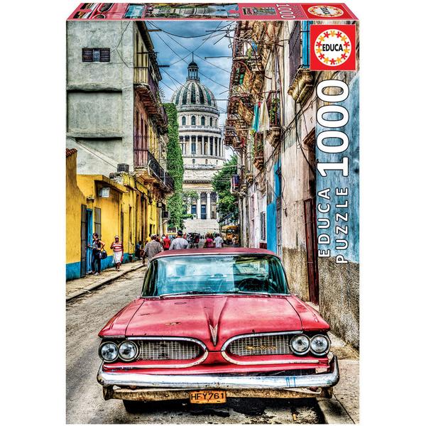 Puzzle de 1000 pièces voiture vintage à la Havane