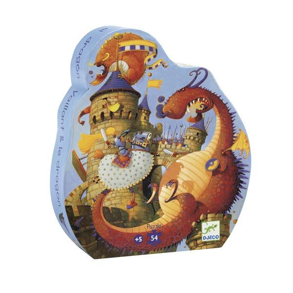 Puzzle Vaillant et les dragons 54 pièces