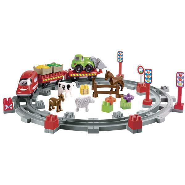 train de campagne abrick ecoiffier king jouet lego planchettes autres ecoiffier jeux de. Black Bedroom Furniture Sets. Home Design Ideas