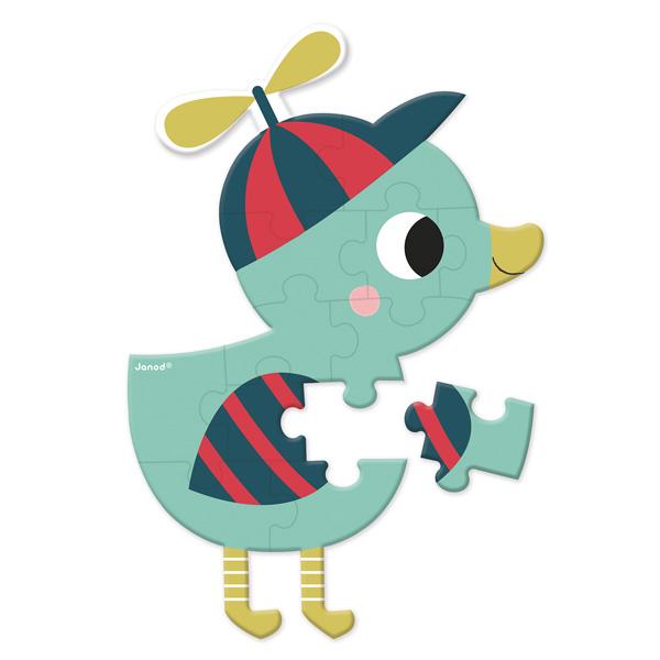 Mini puzzle baby forest : des puzzles de 12 pièces pour développer la concentration et la précision Les mini-puzzles sont disponibles en 6 modèles assortis : canard, ours, renard, hérisson, escargot et tortue. Avec leurs motifs caractéristiques et leurs c