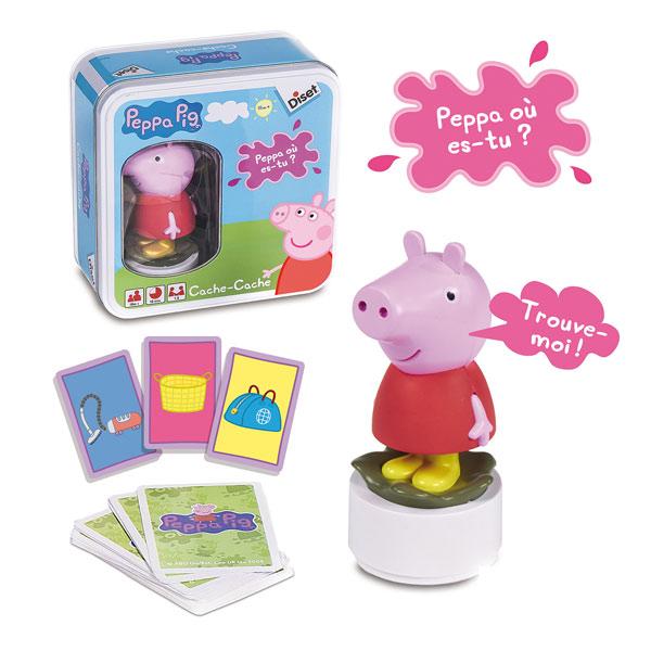 cache cache peppa pig diset king jouet jeux d 39 action diset jeux de soci t. Black Bedroom Furniture Sets. Home Design Ideas
