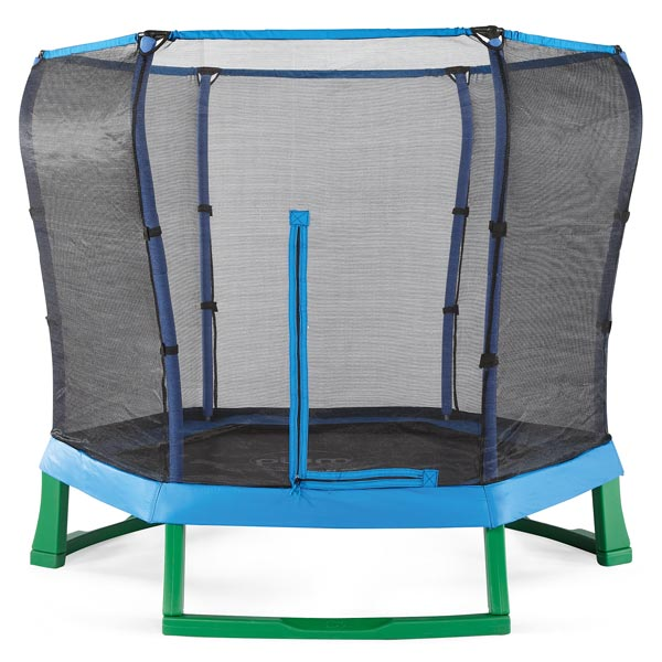 trampoline junior bleu avec filet 2m20 plum king jouet. Black Bedroom Furniture Sets. Home Design Ideas