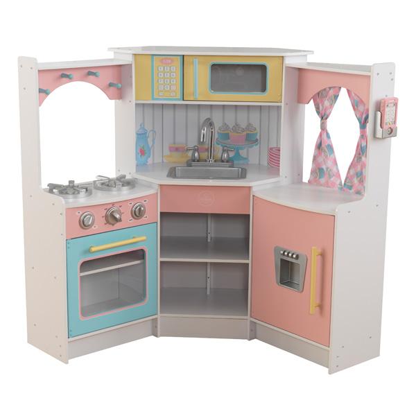 Cuisine deluxe corner pastel kidkraft king jouet for 3d cuisine deluxe