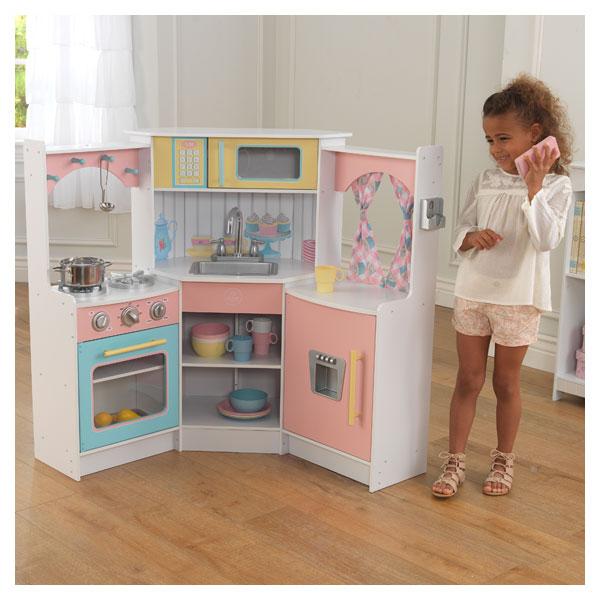 Cuisine deluxe corner pastel kidkraft king jouet cuisine et dinette kidkra - Cuisine kidkraft avis ...