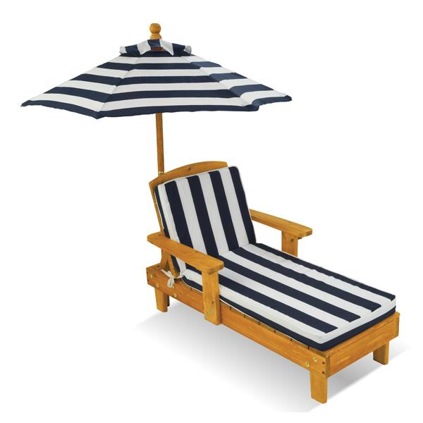 Chaise longue avec parasol